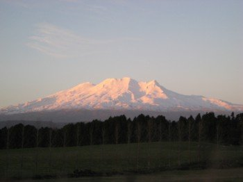 Der Mount Ruapehu in Neuseeland