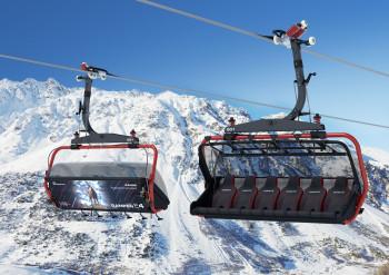 Auf der Rückseite der Sessel sind die Tiere der alpinen Bergwelt verewigt.