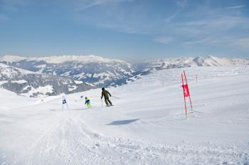 Gleich drei Riesentorlaufstrecken warten im Rennparadies Unterberg.