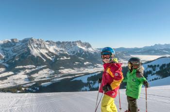 Familien und Kinder sind in der SkiWelt bestens aufgehoben.