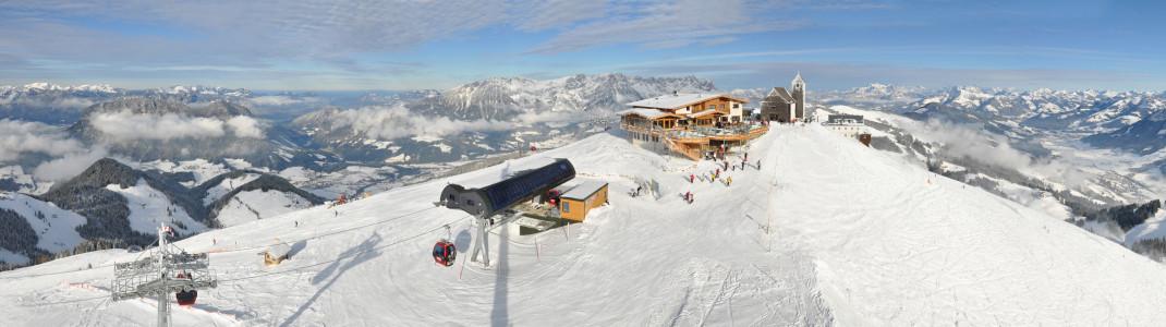 Panoramablick auf den Gipfel der Hohen Salve