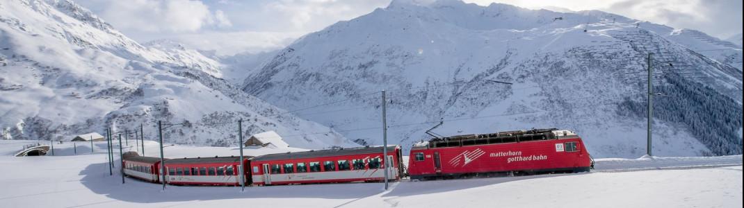 Mit dem Zug ganz ohne Stress ins Skigebiet.