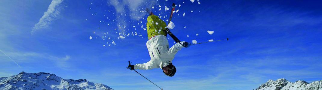 Freestyler können im Snowpark ihre Skills verbessern.