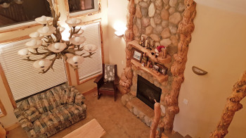 You can book your accommodation at a quaint wooden cottage.