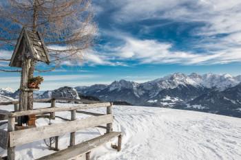 Die Winterlandschaft im Salzburger Saalachtal lädt zum Wandern und Langlaufen ein.