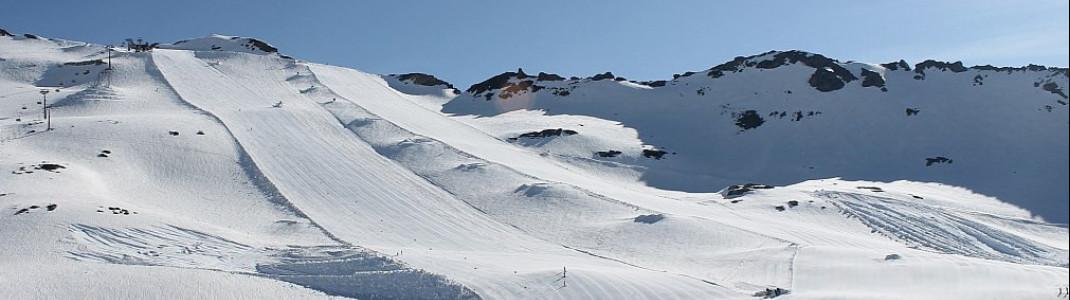 Leere Pisten und viel Schnee: Noch bis 12. Mai laufen die Skilifte am Mölltaler Gletscher in Kärnten.