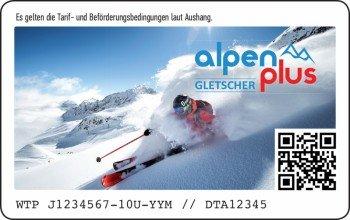 So sieht die neue Alpen Plus Gletscher Card aus.