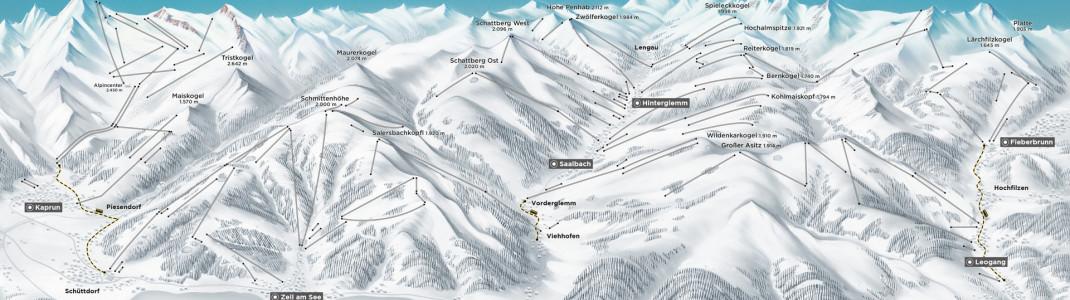 Der Gültigkeitsbereich der Alpin Card.