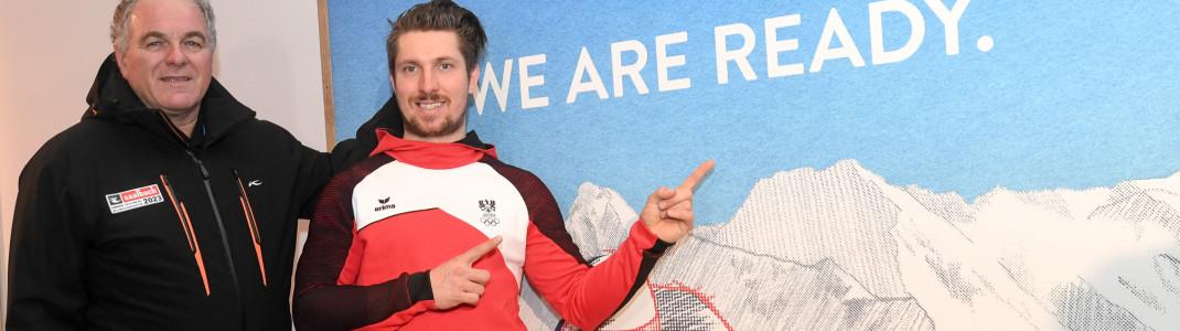 Bartl Gensbichler und Marcel Hirscher sind sich sicher: Saalbach ist bestens gerüstet für die Ski WM 2023.