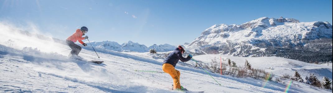 Alta Badia boasts 130 kilometers of slopes and is part of the Dolomiti Superski network.