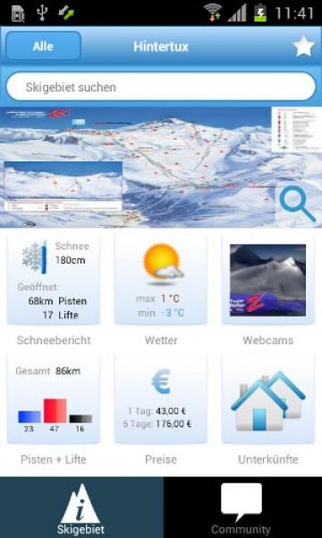 app auf die piste die neue android app von skigebiete ist da skigebiete test magazin. Black Bedroom Furniture Sets. Home Design Ideas