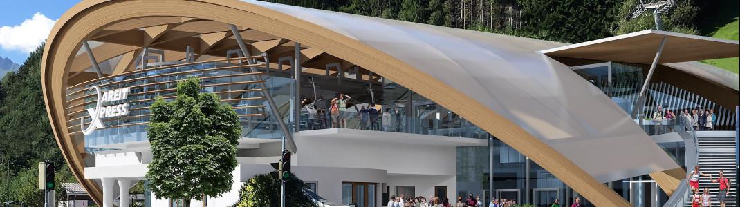 Die neue Talstation des neuen areitXpress auf der Schmitten in Zell am See-Kaprun.