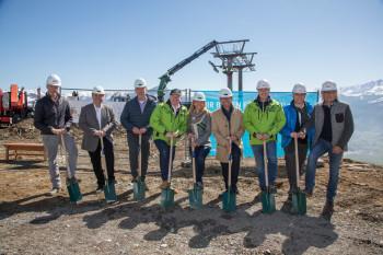 Spatenstich zum Bau des neuen areitXpress auf der Schmitten in Zell am See-Kaprun.