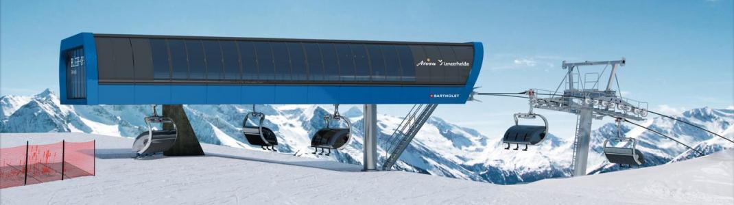 Visualisierung der neuen Bergstation auf dem Brüggerhorn in Arosa