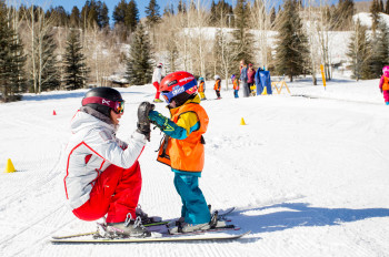 Buttermilk is the perfect spot for children to make their first steps on skis.