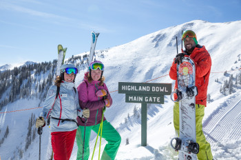 The Highland Bowl is Aspen Highland's legendary powder area.