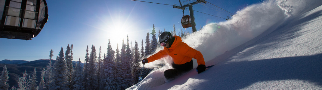 Experience the legendary Champagne Powder in the Rocky Mountains.