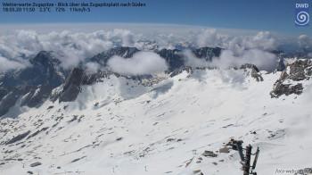 Über 220cm Schnee liegen aktuell noch auf der Zugspitze.