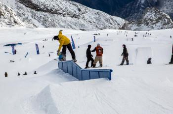 Vier verschiedene Lines und 21 Obstacles warten auf die Wintersportler.