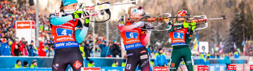Bei neun Weltcupstopps kämpfen die Biathleten um Punkte für die Gesamtwertungen, unter anderem auch wieder in Ruhpolding.
