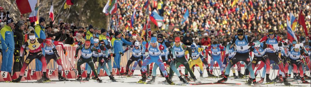 Auch in Ruhpolding werden die Weltcup-Athleten wieder zu Gast sein.