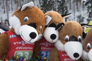 Das Maskottchen des Ruhpoldinger Biathlon-Weltcups: Beppo, der Loipenfuchs.