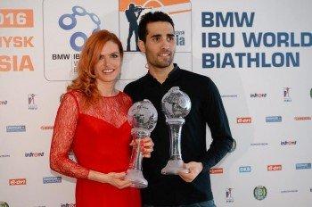 Die Titelverteidiger Gabriela Koukalová und Martin Fourcade sind auch in der Saison 2016/2017 die großen Favoriten.
