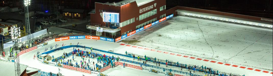 Viele Flutlichtrennen: Selbst im März lässt sich die Sonne in Östersund tagsüber nur wenige Stunden blicken.