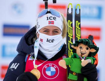 Zweite Goldmedaille für Norwegen durch Tiril Eckhoff.