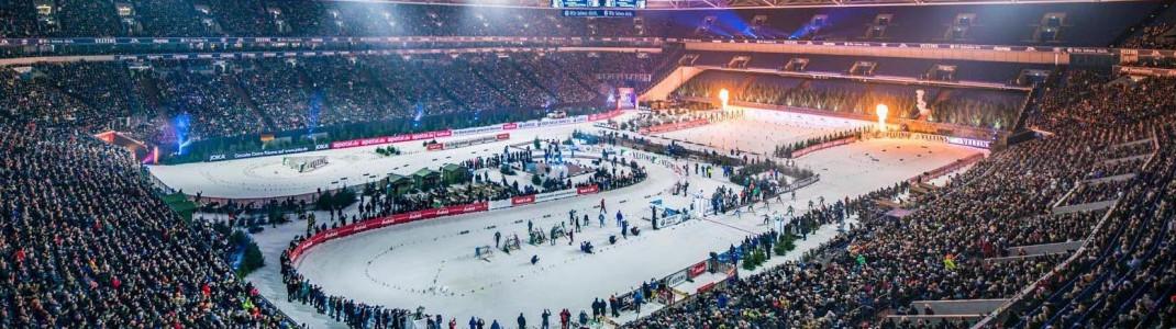 Ausverkaufte Arena: Über 46.000 Zuschauer jubeln auf Schalke den Biathleten zu.