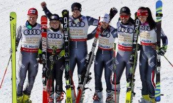 Die von Colmar gesponserte französische Skimannschaft sicherte sich bei der Ski-WM 2017 in St. Moritz beim Team-Event die Goldmedaille.