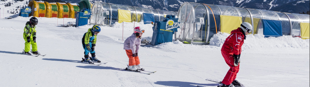 Die Devise in Skikursen: Abstand halten.