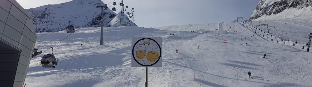 In Österreich und der Schweiz läuft der Skibetrieb mit Hygieneauflagen vorerst weiter.