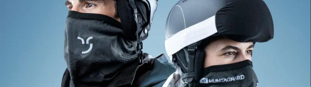 Ein erster Designentwurf des Maskenschals von Muntagnard, der im Auftrag des Kantons Graubünden entwickelt wird.