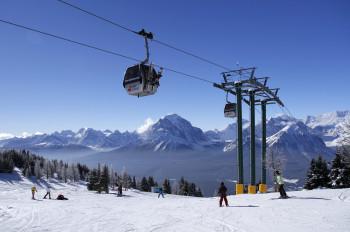 Despite the coronavirus crisis, Lake Louise ski resort continues to operate.