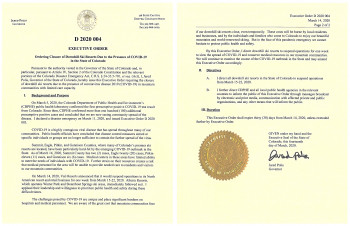 Im US-Bundesstaat Colorado hat Gouverneur Jared Polis die Schließung aller Skigebiete angeordnet.