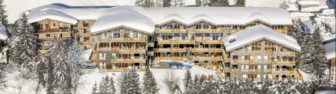 Das Hotel Sonnleiten liegt direkt an den Pisten des Kohlmais in Saalbach.