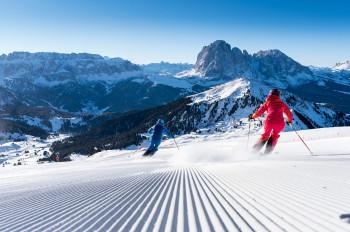 Traumhafte Pisten und das eindrucksvolle Dolomiten-Panorama - das ist Skifahren in Gröden.