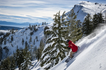 The ski area is located on Lake Tahoe in California at 2000 meters above sea level.