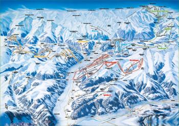 Hier siehst du die Skirunden im Zillertal eingezeichnet.