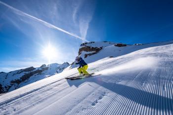 Die Abfahrt vom Titlis nach Engelberg zählt zu den längsten Pisten in den Alpen.