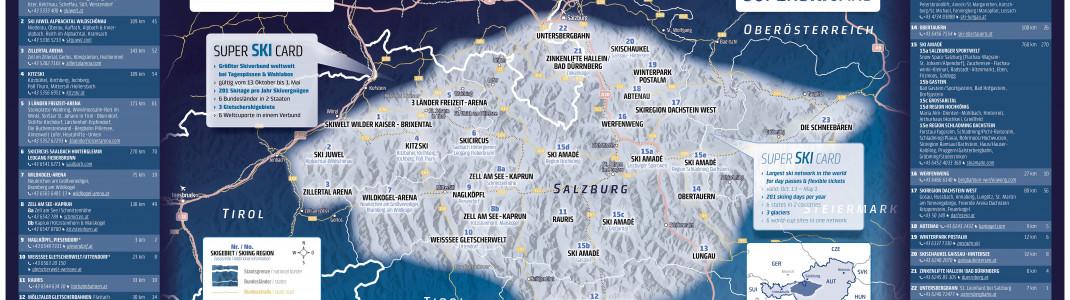 Die Super Ski Card ist in 23 Skiregionen gültig.