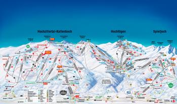 Pistenpanorama der Skigebiete Hochzillertal-Hochfügen und Spieljoch - zum Vergrößern klicken!