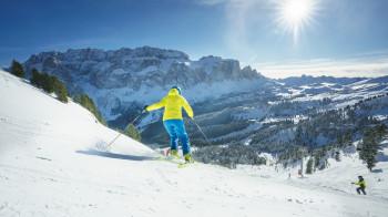 Val Gardena zählt auch weltweit zu den Top Skigebieten.
