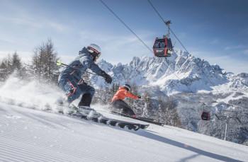 Gut 100 Pistenkilometer erwarten dich im Skigebiet 3 Zinnen Dolomiten.