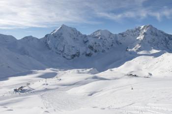 Das Skigebiet Sulden ist besonders schneesicher.