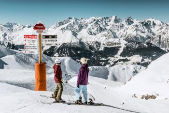 Das Schweizer Skigebiet 4 Vallées bietet 412 Pistenkilometer.