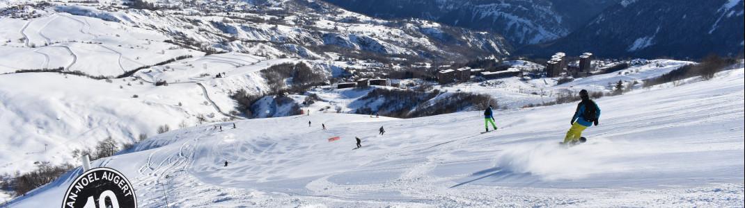 Les Sybelles zählt zu den größten Skigebieten in Frankreich.