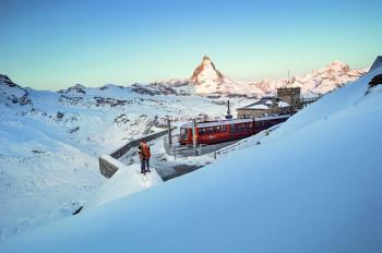 Die Bergstation der Gornergradbahn in Zermatt.