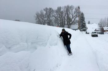 Schnee über Schnee erwartete uns in Crested Butte.